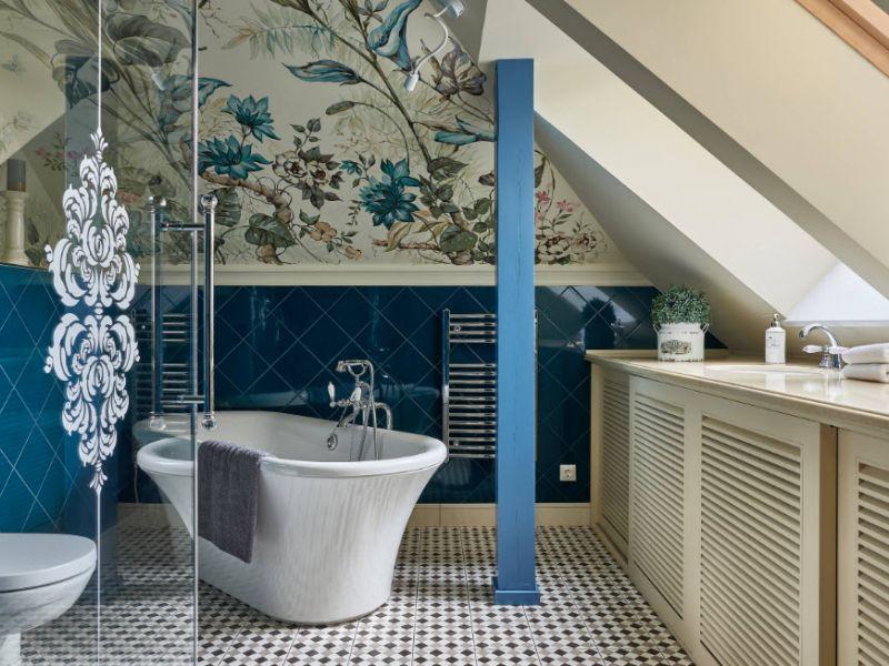 Дизайн плитки в ванную комнату 2018
